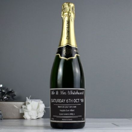 Personalised Classic Label Champagne